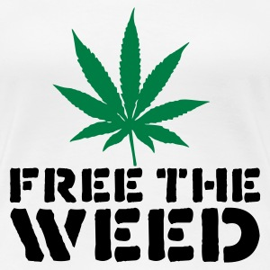 White Free The Weed Women's T-Shirts - Women's Premium T-Shirt