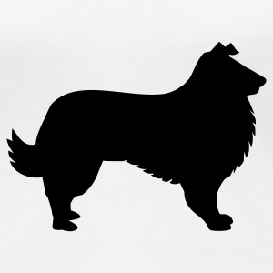 Weiß Collie - Hund T-Shirts - Frauen Premium T-Shirt