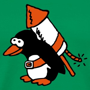 rocket_pinguin_3c T-Shirts - Men's Premium T-Shirt