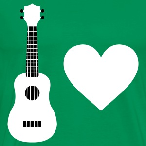 Grass green Ukulele Love Men's T-Shirts - Men's Premium T-Shirt