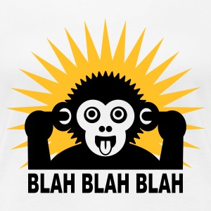 Wit Blah blah blah - aap - light shirt T-shirts - Vrouwen Premium T-shirt
