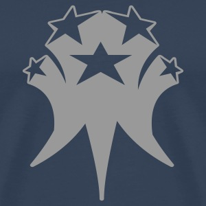 Dark navy shooting_stars Men's T-Shirts - Men's Premium T-Shirt