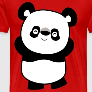 Burgundy red Cute Mischievous Cartoon  Panda by Cheerful Madness!! Men's T-Shirts - Men's Premium T-Shirt