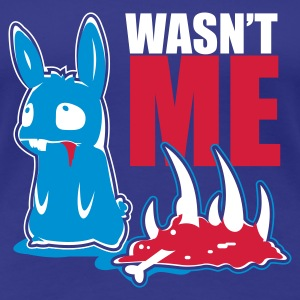 Turquoise bunny_wasnt_me T-shirts - T-shirt Premium Femme