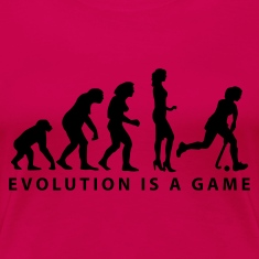 evolution_hockey_woman_b_1c T-Shirts