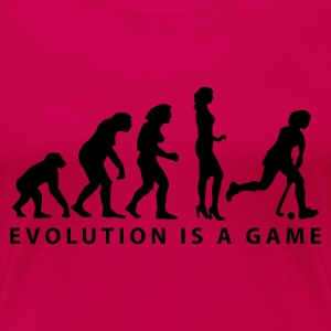 evolution_hockey_woman_b_1c T-Shirts - Women's Premium T-Shirt