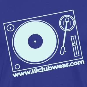 Royal blue turntable_promo Men's T-Shirts - Men's Premium T-Shirt