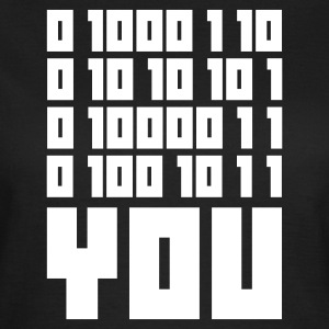 Olijfgroen FUCK YOU - Binary code T-shirts - Vrouwen T-shirt