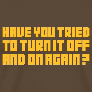 Edelbruin Turn it off and on again T-shirts - Mannen Premium T-shirt