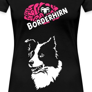 Schwarz Border Collie ohne Text  T-Shirts - Frauen Premium T-Shirt