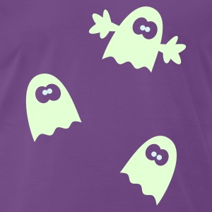 Halloween Gespenster T-Shirt Glow in the Dark - Männer Premium T-Shirt