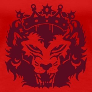 Red The lion's head with crown Women's T-Shirts - Women's Premium T-Shirt