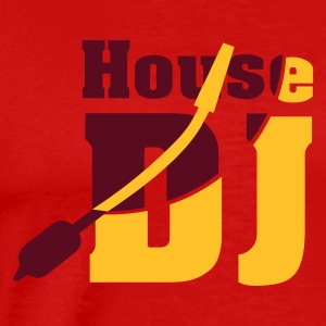 Red housedj_2 Men's T-Shirts - Men's Premium T-Shirt