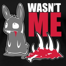 Black bunny_wasnt_me Women's T-Shirts