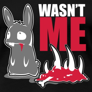 Sort bunny_wasnt_me T-shirts - Dame premium T-shirt
