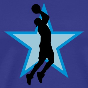 basketball_star_b_3c T-shirts - Mannen Premium T-shirt