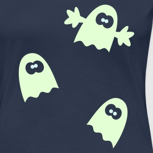 Halloween Gespenster Geister T-Shirt Glow in the Dark! - Frauen Premium T-Shirt