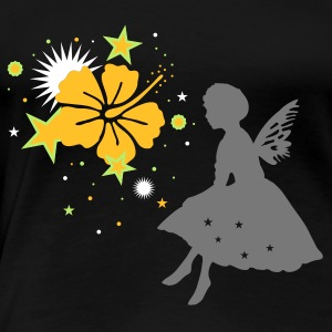 Black Little elf with wings Women's T-Shirts - Women's Premium T-Shirt