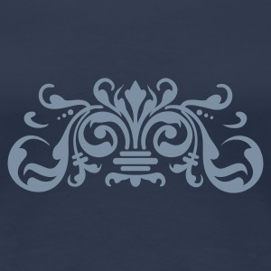 Navy baroque ornament (1c) T-shirts - Vrouwen Premium T-shirt
