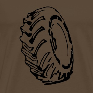 Brown truck tyre T-Shirts - Men's Premium T-Shirt