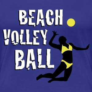 beachvolleyball_woman_b_3c T-skjorter - Premium T-skjorte for kvinner