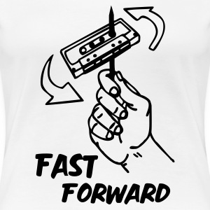 Weiß fast_forward_1c T-Shirts - Frauen Premium T-Shirt