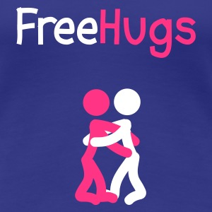 Royal blue Free Hugs Stickmen Women's T-Shirts - Women's Premium T-Shirt
