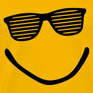 Yellow smile sunglasses Men's T-Shirts - Men's Premium T-Shirt