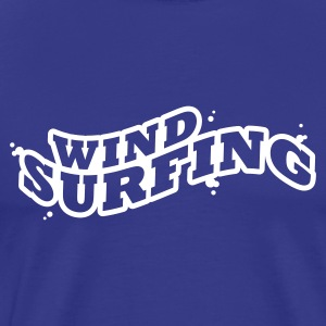Windsuring - surfen Typo Outline T-Shirts - Men's Premium T-Shirt