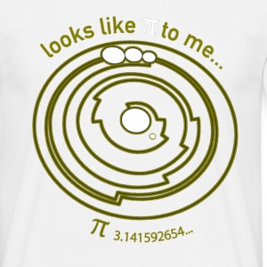 Crop Circle Shirt Pi - Barbury Castle - Men's T-Shirt