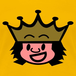 Geel king / queen T-shirts - Vrouwen Premium T-shirt