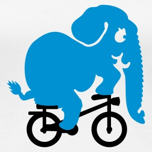 Hvid elefant på tour de jungle / elephant on the tour de jungle (2c) T-shirts - Dame premium T-shirt