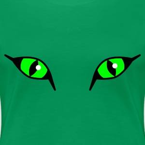 Wilde Katzenaugen / Neon Cat Eyes XXL Damen Shirt - Frauen Premium T-Shirt