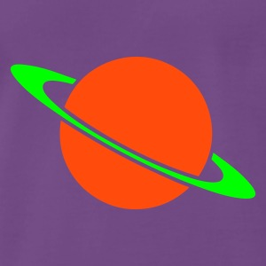 Indigo Planet Saturn T-shirts - Herre premium T-shirt