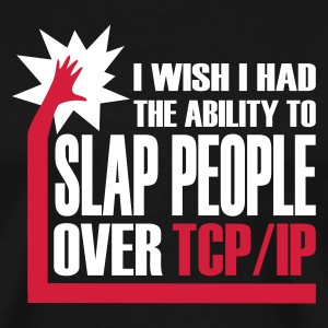 Schwarz slap_over_tcp_ip T-Shirts - Männer Premium T-Shirt