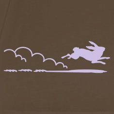 Brown flottes Häschen / running rabbit (1c) Men's T-Shirts
