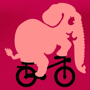 olifant op de tour de jungle / elephant on the tour de jungle (2c) T-shirts - Vrouwen Premium T-shirt