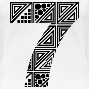 White  Women's number 7 seven T-Shirts - Women's Premium T-Shirt