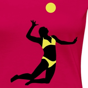 beachvolleyball_woman_2c T-shirts - Premium-T-shirt dam