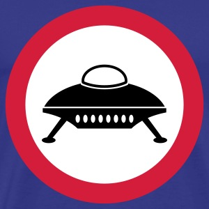 road sign spaceship - Men's Premium T-Shirt