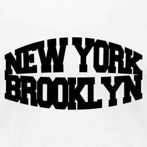 Blanco new york brooklyn Camisetas - Camiseta premium mujer