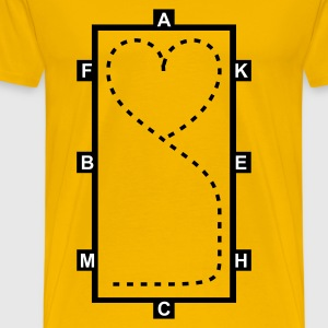 Jaune Dressage Riding heart - Dressage Equitation coeur T-shirts - T-shirt Premium Homme