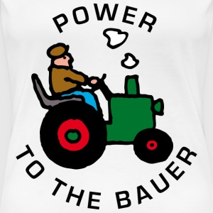 Weiß power_to_the_bauer_b T-Shirts - Frauen Premium T-Shirt