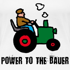 Weiß power_to_the_bauer_c T-Shirts - Frauen Premium T-Shirt