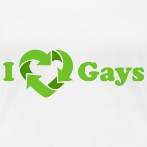 Weiß I love Gays / I recycle Gays T-Shirts - Frauen Premium T-Shirt
