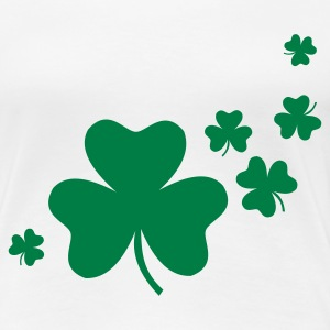 Weiß Shamrocks T-Shirts - Frauen Premium T-Shirt