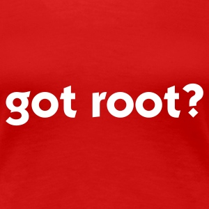 Red got root? (1c) Women's T-Shirts - Women's Premium T-Shirt