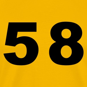 Yellow Number - 58 – Fifty Eight Men's T-Shirts - Men's Premium T-Shirt
