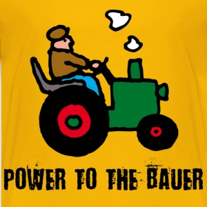 Gelb power_to_the_bauer_c Kinder T-Shirts - Teenager Premium T-Shirt