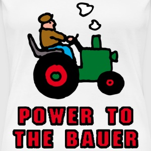 Weiß power_to_the_bauer_d T-Shirts - Frauen Premium T-Shirt